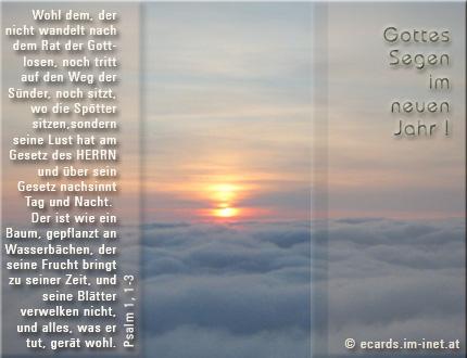 Christliche Ecards - Neujahrsgruß