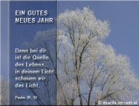 Ein gutes neues Jahr Psalm 36, 10 Denn bei dir ist die Quelle des Lebens, in deinem Licht schauen wir das Licht.