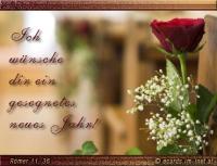 Ich wünsche dir ein gesegnetes neues Jahr! Römer 11, 36 Denn von ihm und durch ihn und für ihn sind alle Dinge; ihm sei die Ehre in Ewigkeit! Amen.