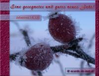 Ein gesegnetes und gutes neues Jahr! Johannes 14,27 Frieden hinterlasse ich euch; meinen Frieden gebe ich euch. Nicht wie die Welt gibt, gebe ich euch; euer Herz erschrecke nicht und verzage nicht!
