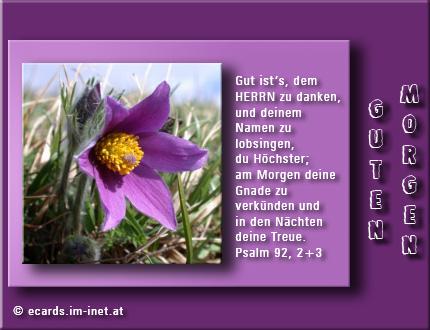 Christliche Ecards Grußkarten Morgengruß
