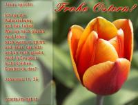 Frohe Ostern! Johannes 11,25 Jesus spricht: Ich bin die Auferstehung und das Leben. Wer an mich glaubt, wird leben, auch wenn er stirb.