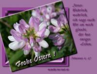 Frohe Ostern! Johannes 6,47 Wahrlich, wahrlich, ich sage euch: Wer an mich glaubt, der hat ewiges Leben.