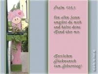 Herzlichen Glückwunsch zum Geburtstag! Psalm 139,5 Von allen Seiten umgibst du mich und hältst deine Hand über mir.
