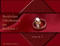 Herzlichen Glückwunsch zur Hochzeit! Jesaja 26,4 Vertraut auf den Herrn allezeit, denn Jah, der Herr, ist ein Fels der Ewigkeiten!
