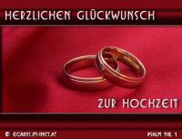 Herzlichen Glückwunsch zur Hochzeit Psalm 118,1 Dankt dem HERRN, denn er ist gütig, ja, seine Gnade währt ewiglich!