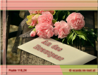 An das Brautpaar. Psalm 118,24 Dies ist der Tag, den der HERR gemacht hat; wir wollen uns freuen und fröhlich sein in ihm!