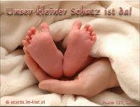 Unser kleiner Schatz ist da! Psalm 127,3a Siehe, Kinder sind eine Gabe des HERRN.