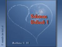 Schönen Urlaub ! Matthäus 11,28 Kommt her zu mir alle, die ihr mühselig und beladen seid, so will ich euch erquicken!