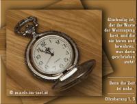 Offenbarung 1,3 Glückselig ist, der die Worte der Weissagung liest, und die sie hören und bewahren, was darin geschrieben steht! Denn die Zeit ist nahe.