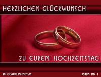 Herzlichen Glückwunsch zu eurem Hochzeitstag. Psalm 118,1 Dankt dem HERRN, denn er ist gütig, ja, seine Gnade währt ewiglich!