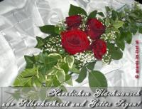 Herzlichen Glückwunsch zur Silberhochzeit und Gottes Segen!
